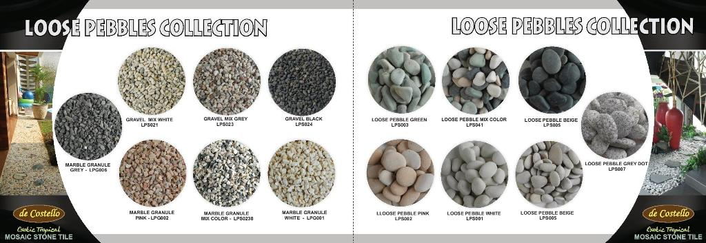 Loose pebbles